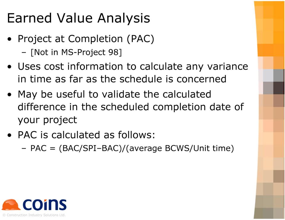 May be useful to validate the calculated difference in the scheduled completion date