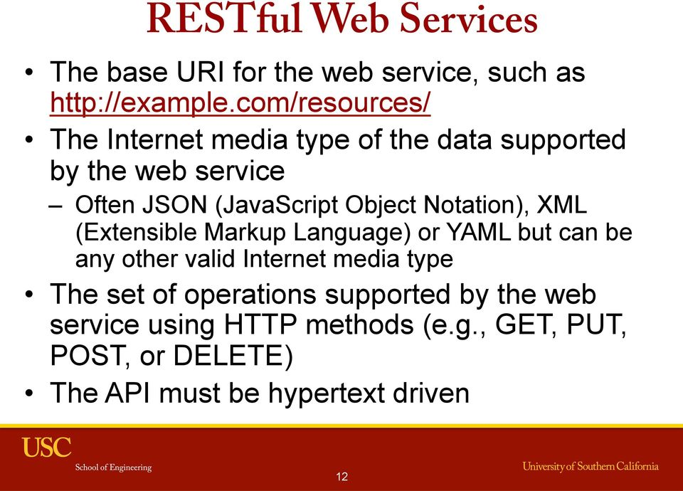 Object Notation), XML (Extensible Markup Language) or YAML but can be any other valid Internet media type