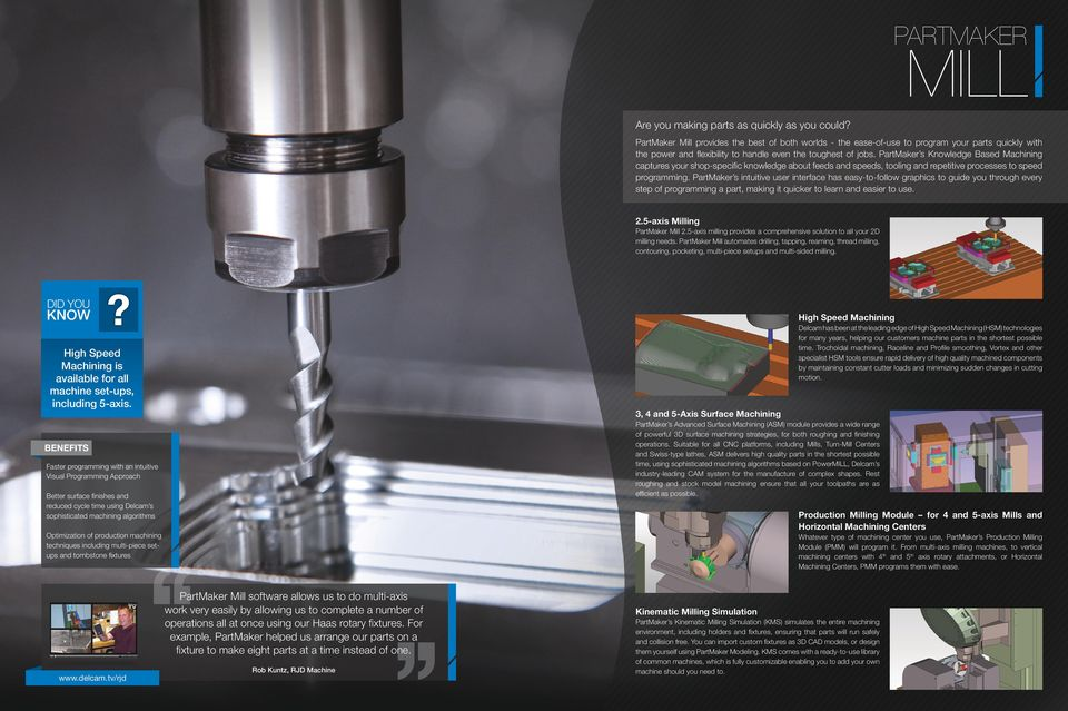 World-leading CAM software for production machining  - PDF