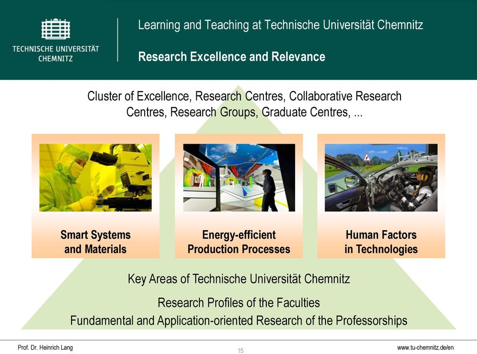 .. Smart Systems and Materials Energy-efficient Production Processes Human Factors in