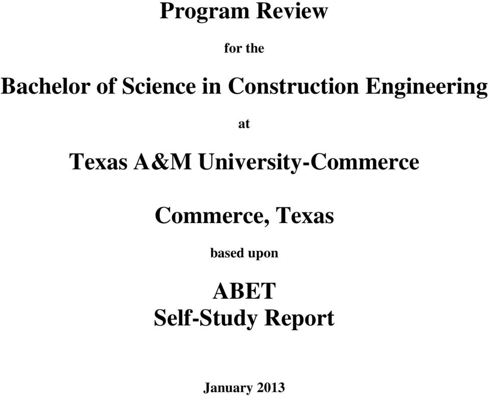 Texas A&M University-Commerce Commerce,