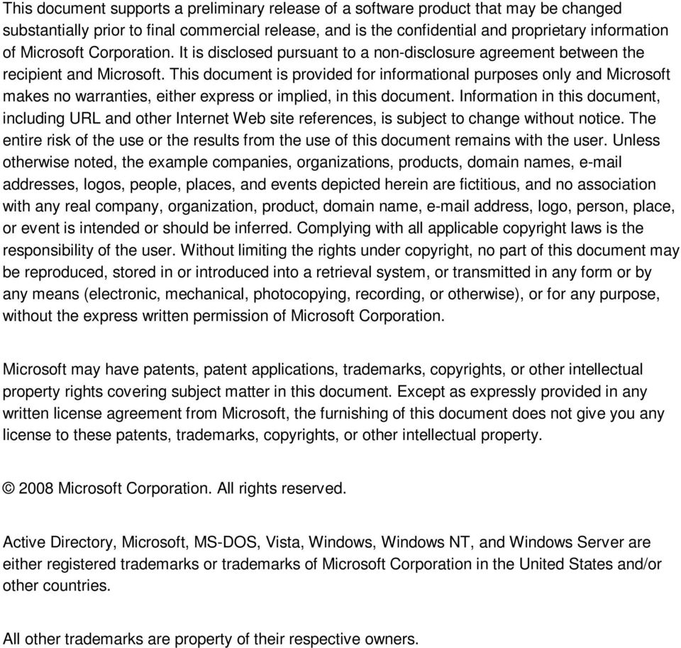 This document is provided for informational purposes only and Microsoft makes no warranties, either express or implied, in this document.