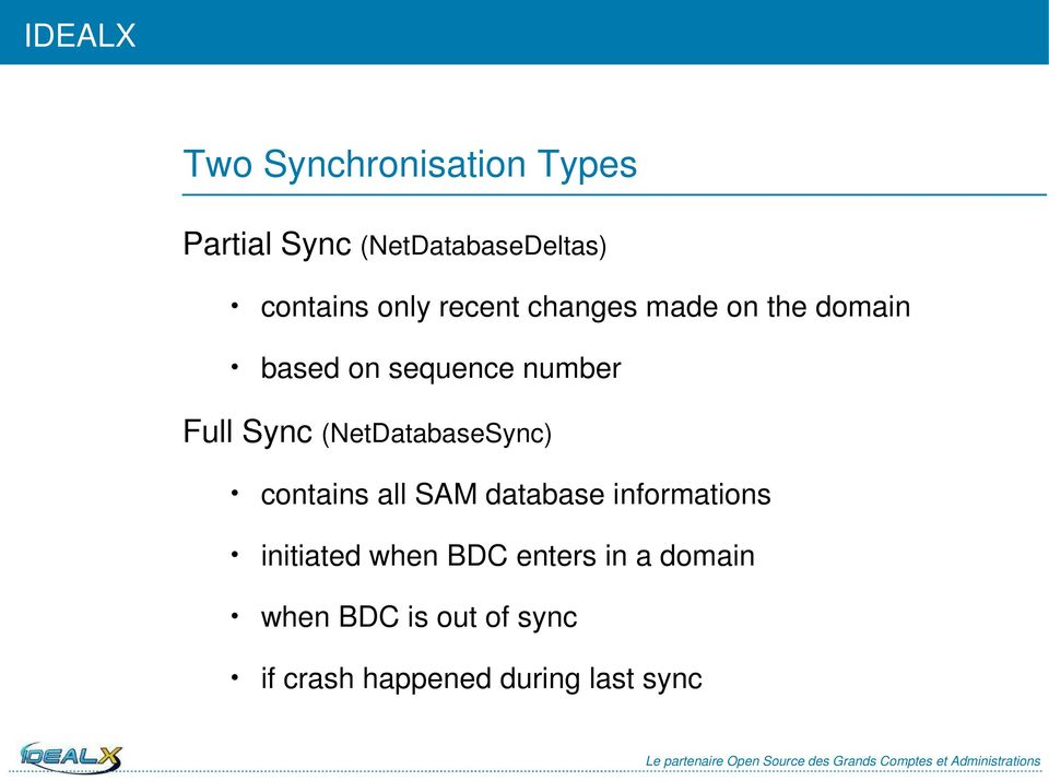 (NetDatabaseSync) contains all SAM database informations initiated when