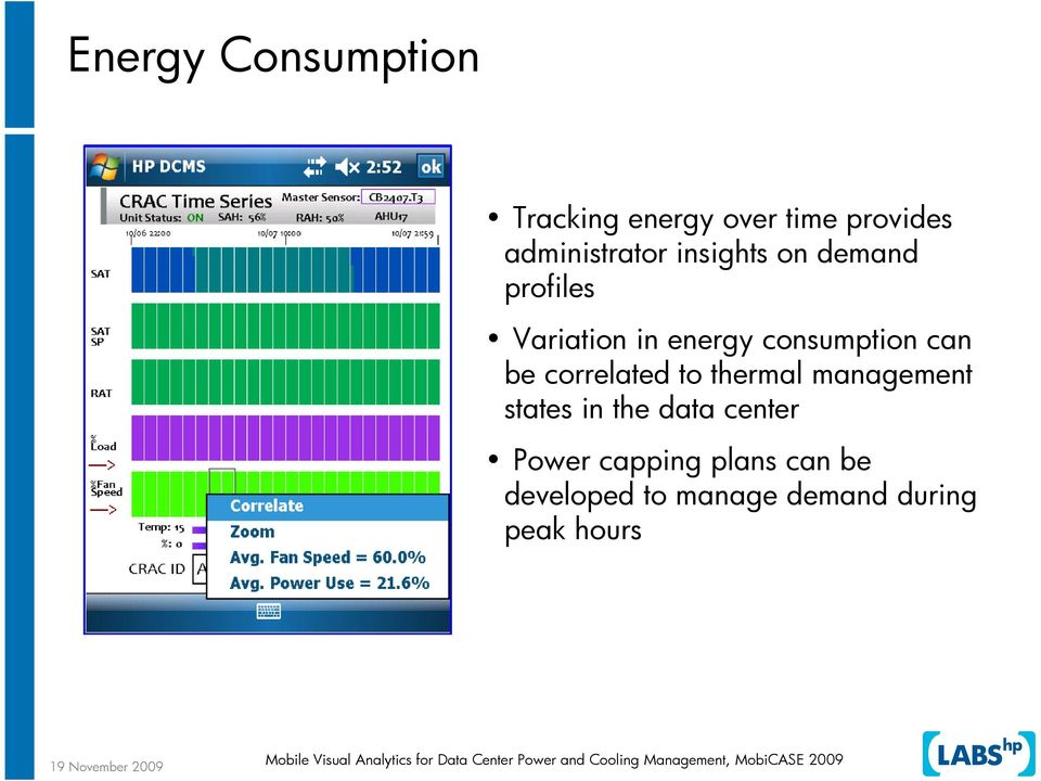consumption can be correlated to thermal management states in the
