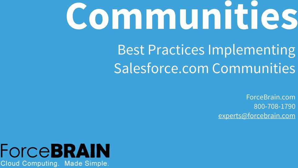 com Communities ForceBrain.