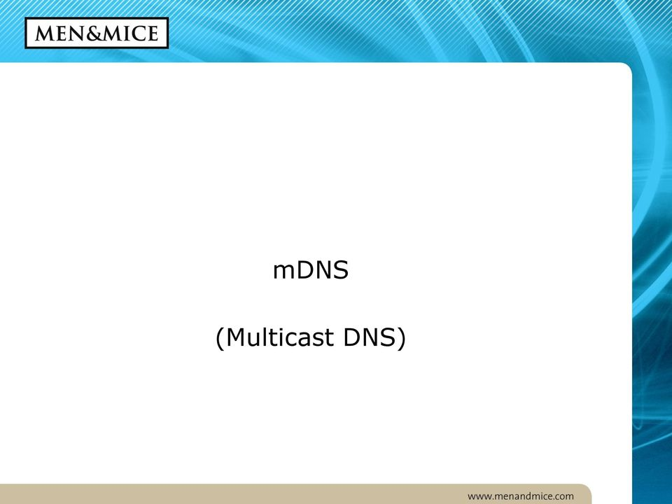 New DNS Technologies in the LAN - PDF
