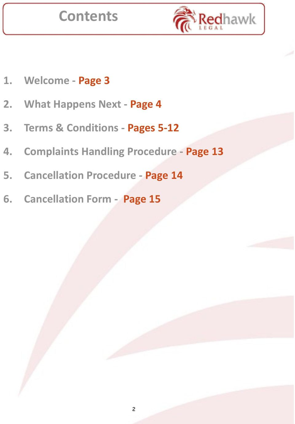 Terms & Conditions - Pages 5-12 4.