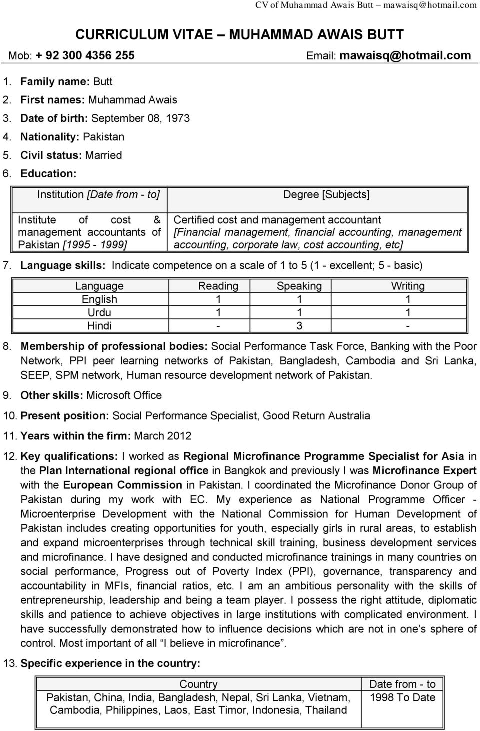 education institution date from to degree subjects institute of cost