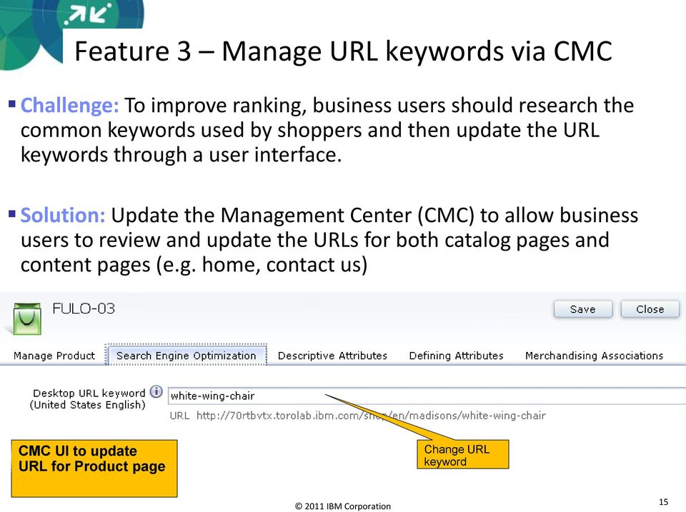 Solution: Update the Management Center (CMC) to allow business users to review and update the URLs for