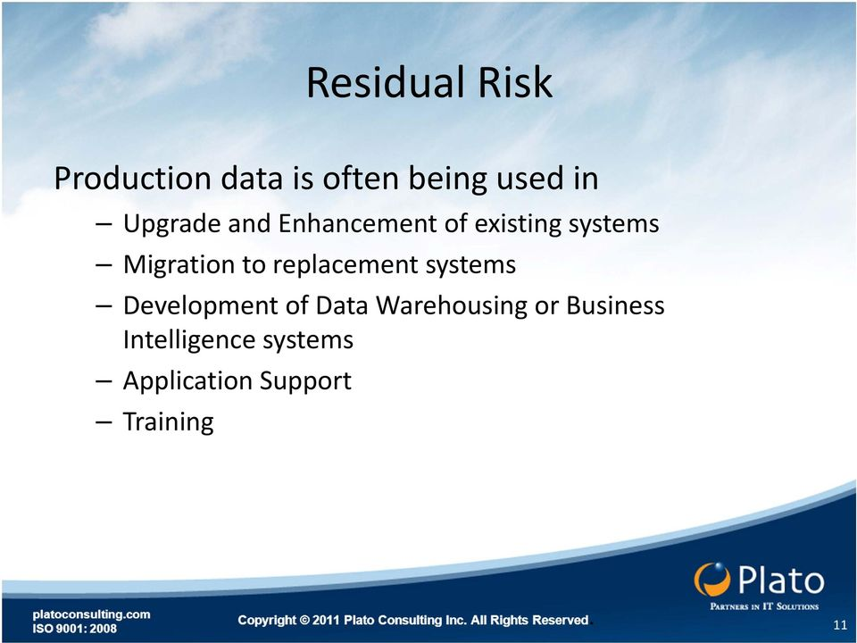 replacement systems Development of Data Warehousing or