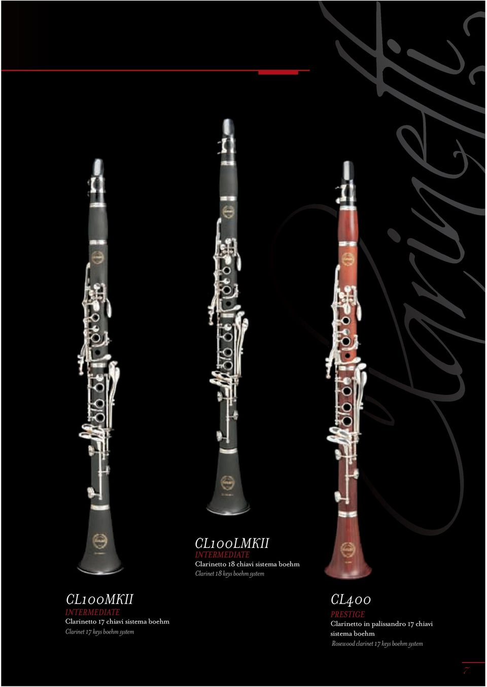 boehm Clarinet 17 keys boehm system CL400 PRESTIGE Clarinetto in