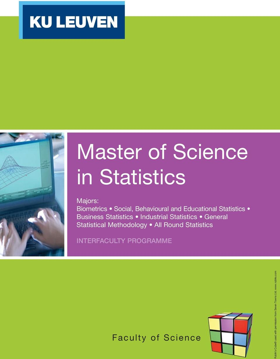 Statistical Methodology All Round Statistics INTERFACULTY PROGRAMME Faculty