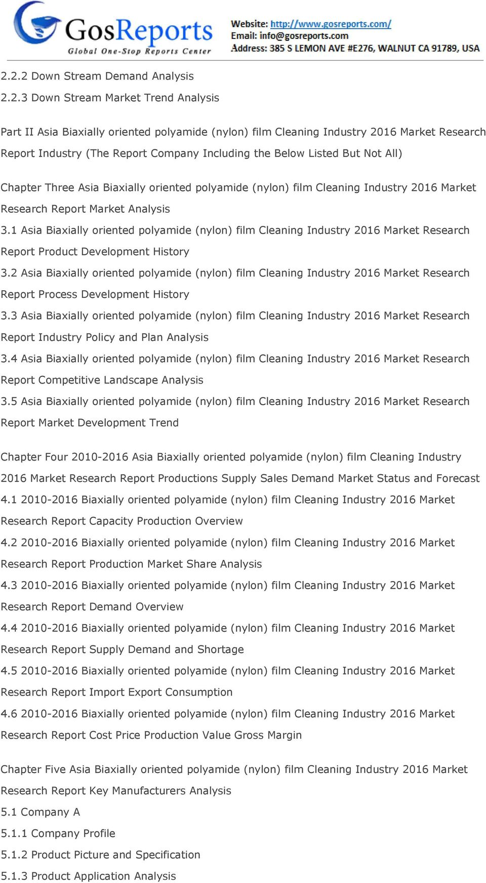 1 Asia Biaxially oriented polyamide (nylon) film Cleaning Industry 2016 Market Research Report Product Development History 3.