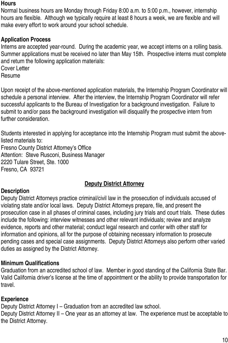 HIRING PRACTICES CALIFORNIA DISTRICT ATTORNEY OFFICES. UC Hastings ...