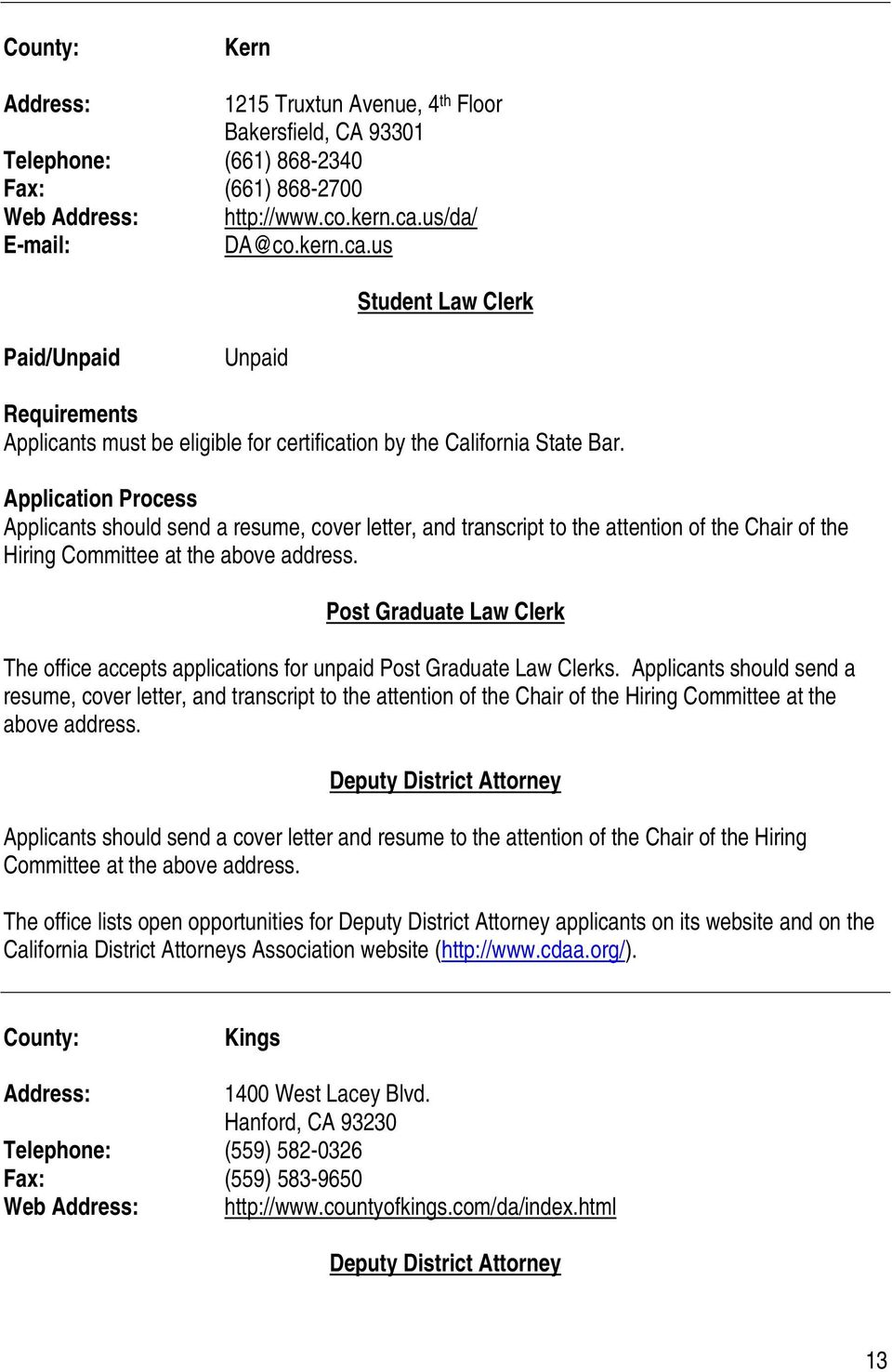 HIRING PRACTICES CALIFORNIA DISTRICT ATTORNEY OFFICES. UC ...