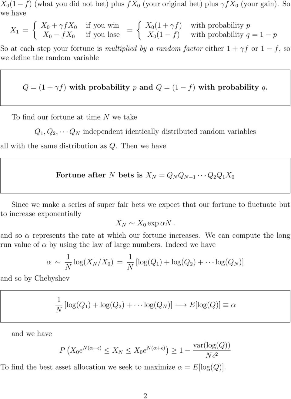 so we define the random variable Q ( + γf) with probability p and Q ( f) with probability q.