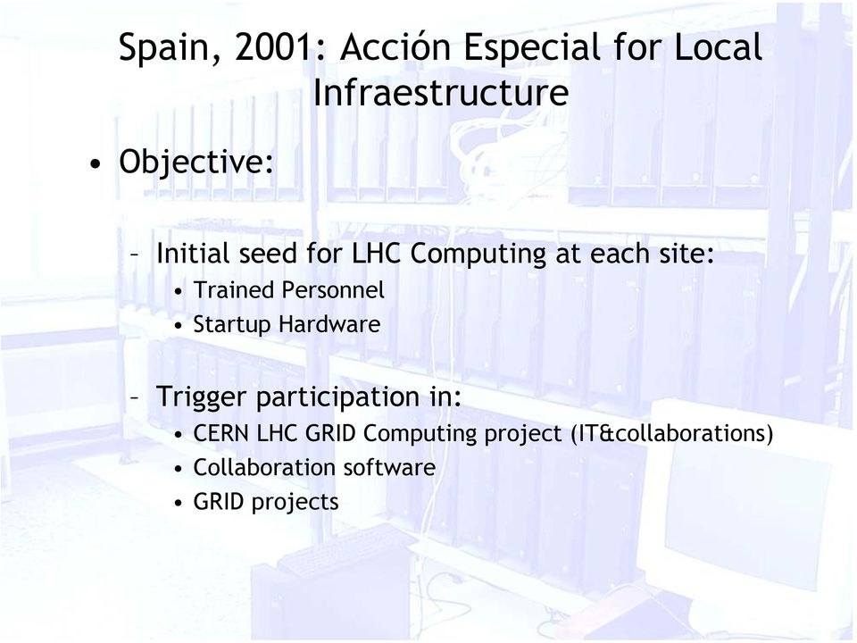 Personnel Startup Hardware Trigger participation in: CERN LHC