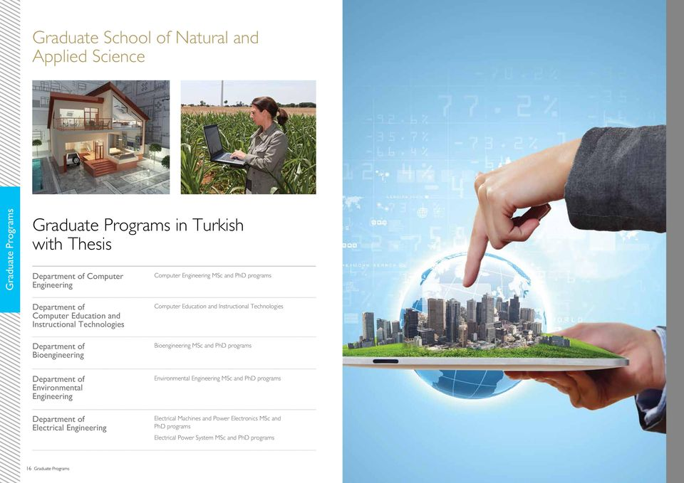 Technologies Bioengineering MSc and PhD programs Environmental Electrical Environmental MSc and PhD programs Electrical