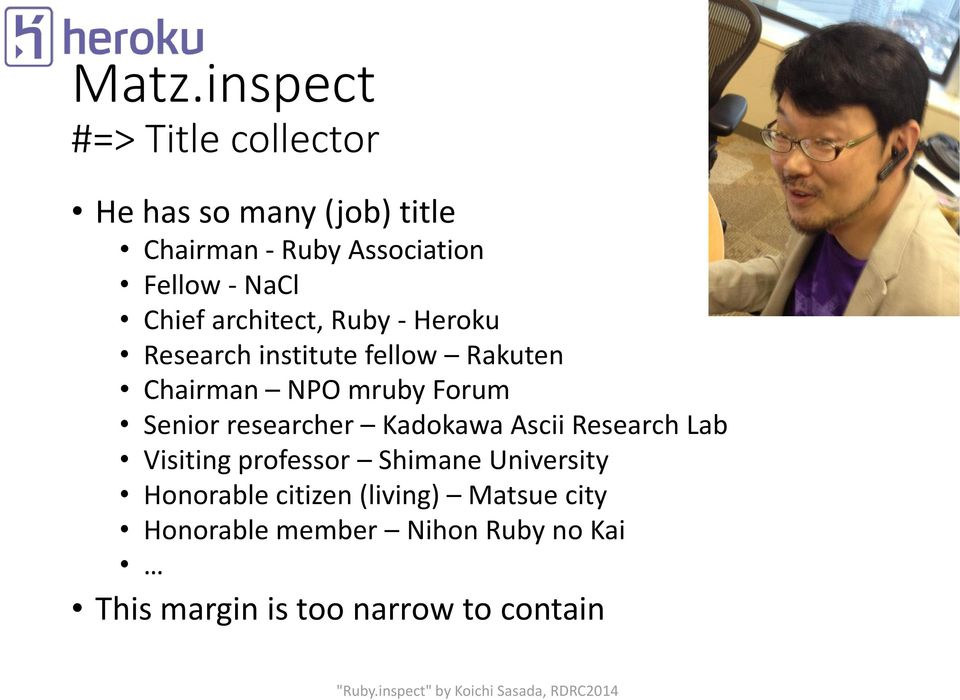 Senior researcher Kadokawa Ascii Research Lab Visiting professor Shimane University Honorable