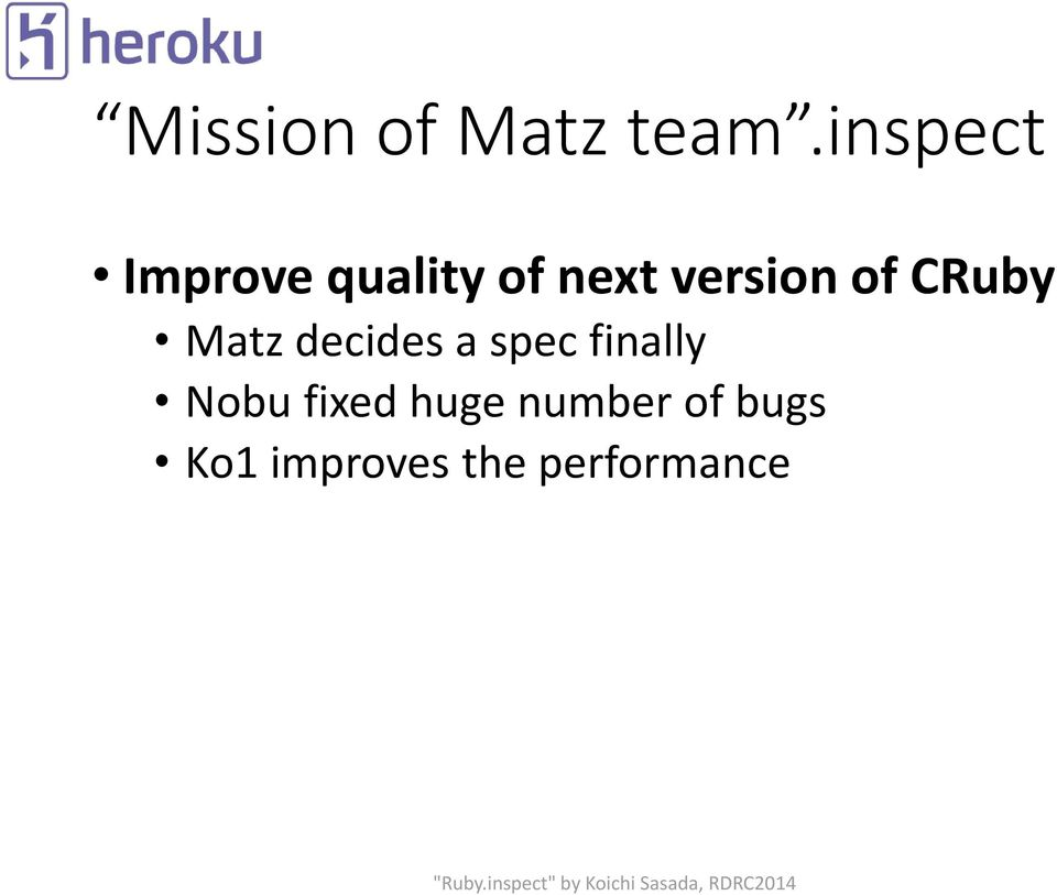 of CRuby Matz decides a spec finally