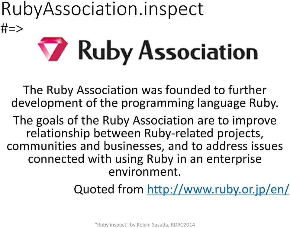 language Ruby.