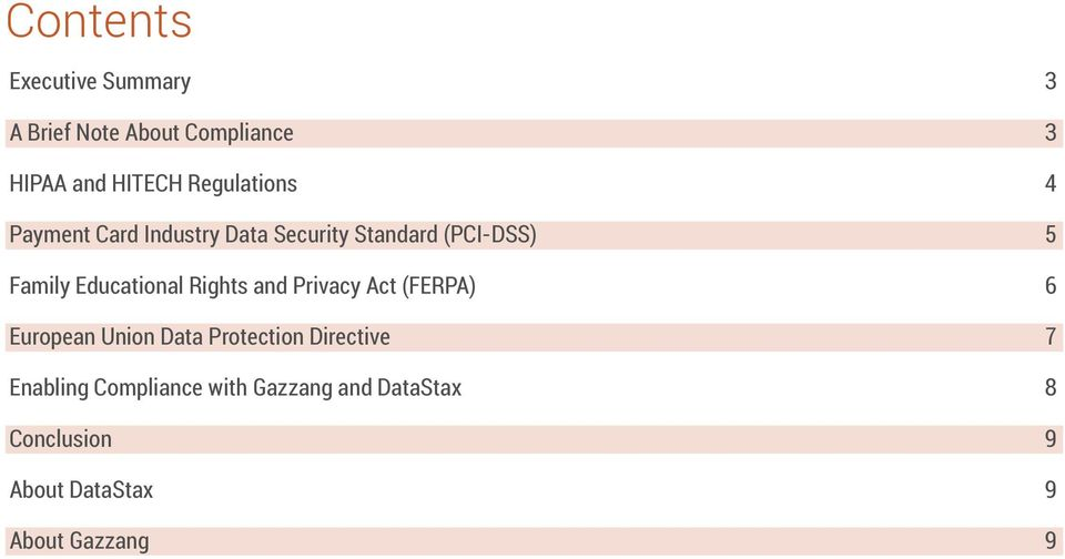 Educational Rights and Privacy Act (FERPA) 6 European Union Data Protection