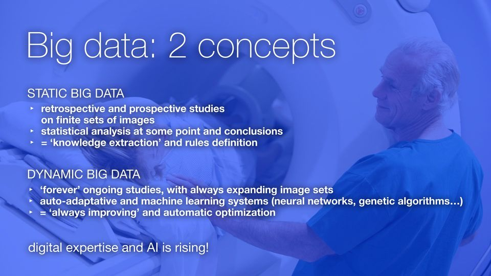 DATA forever ongoing studies, with always expanding image sets auto-adaptative and machine learning systems