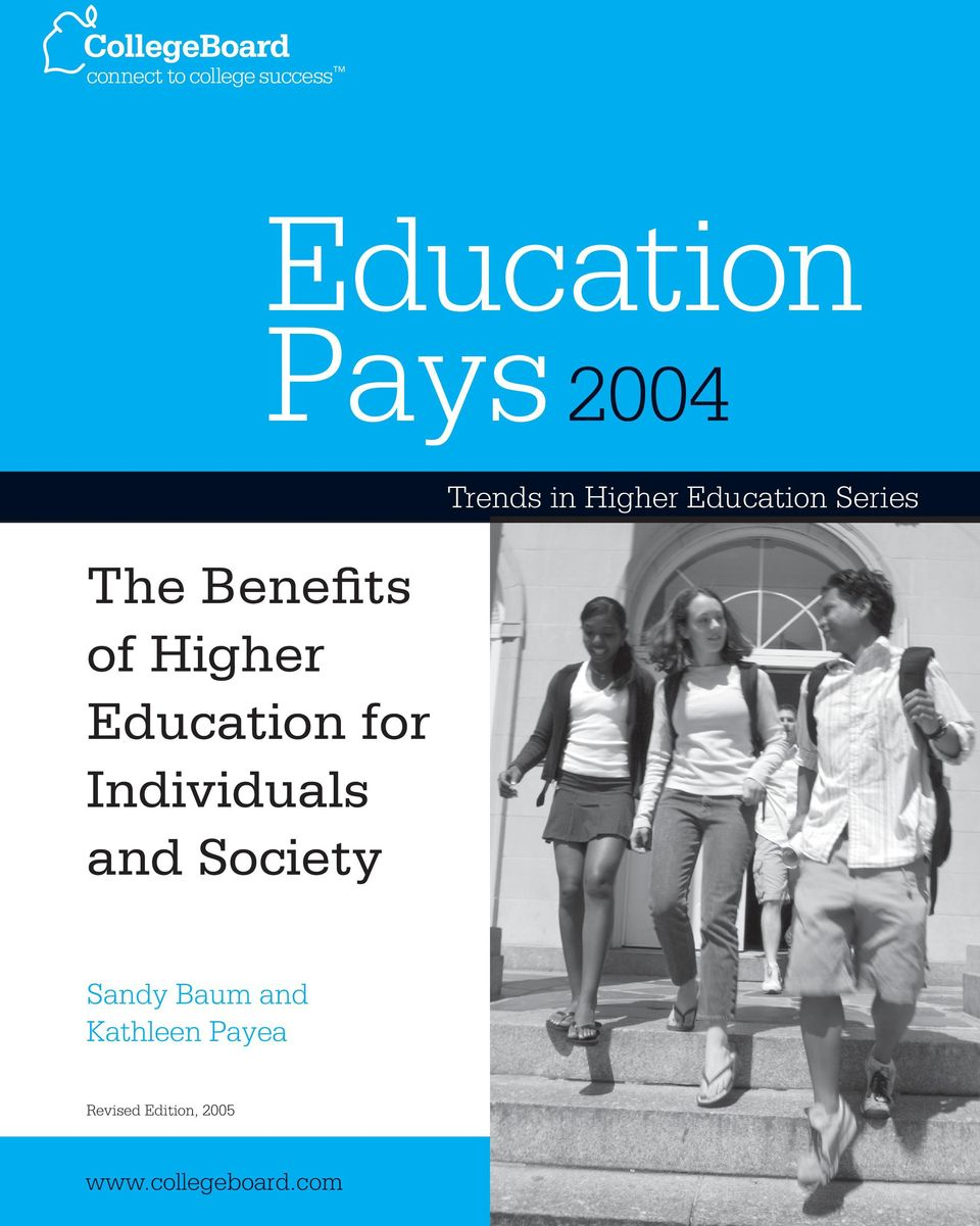 in Higher Education Series Sandy Baum and