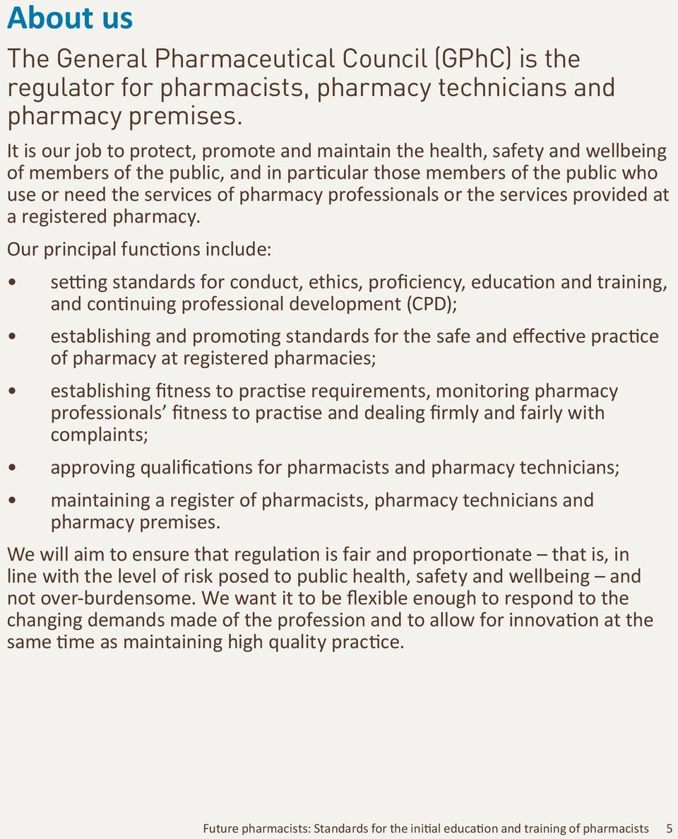 professionals or the services provided at a registered pharmacy.