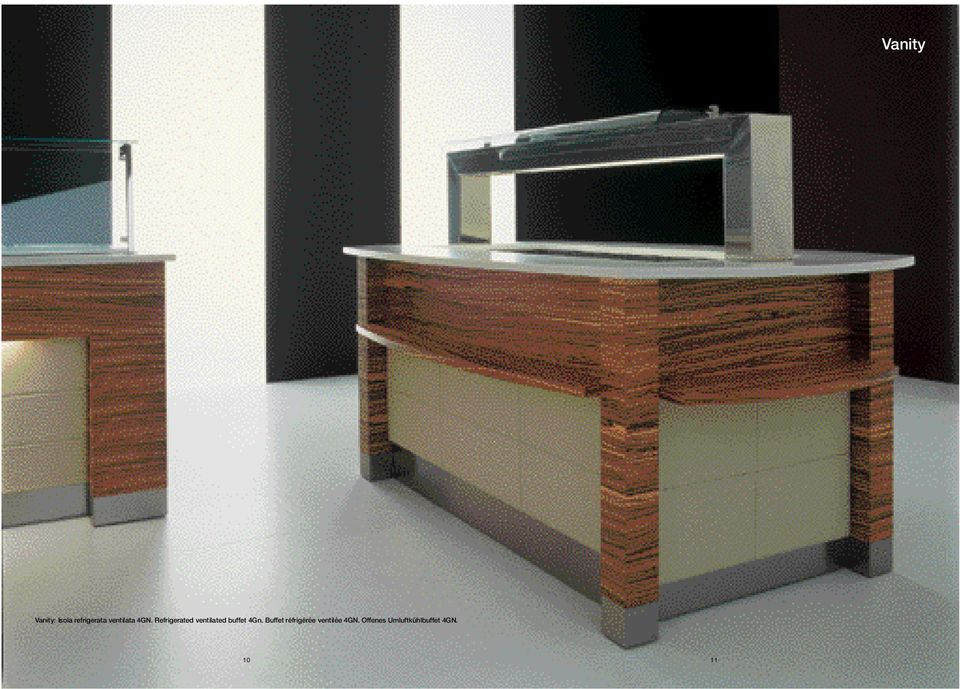 Refrigerated ventilated buffet 4Gn.