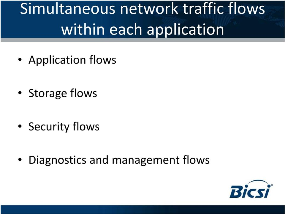 Application flows Storage flows