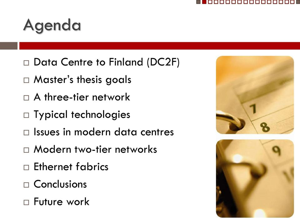 technologies Issues in modern data centres