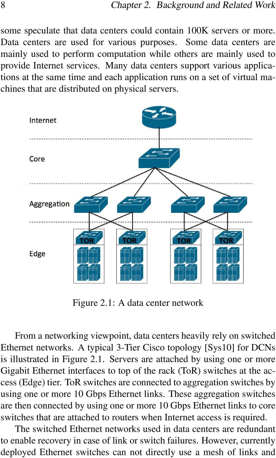 Many data centers support various applications at the same time and each application runs on a set of virtual machines that are distributed on physical servers. Figure 2.