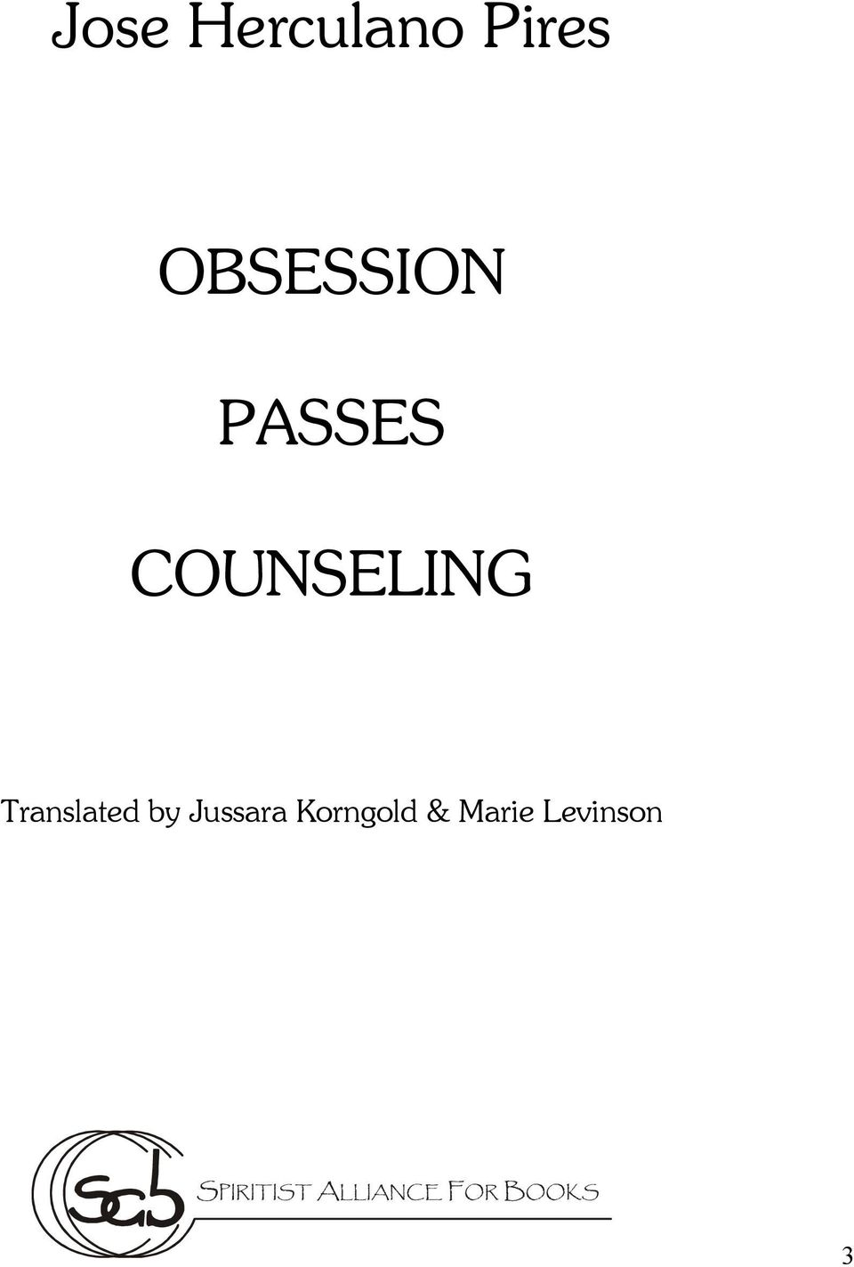 COUNSELING Translated by