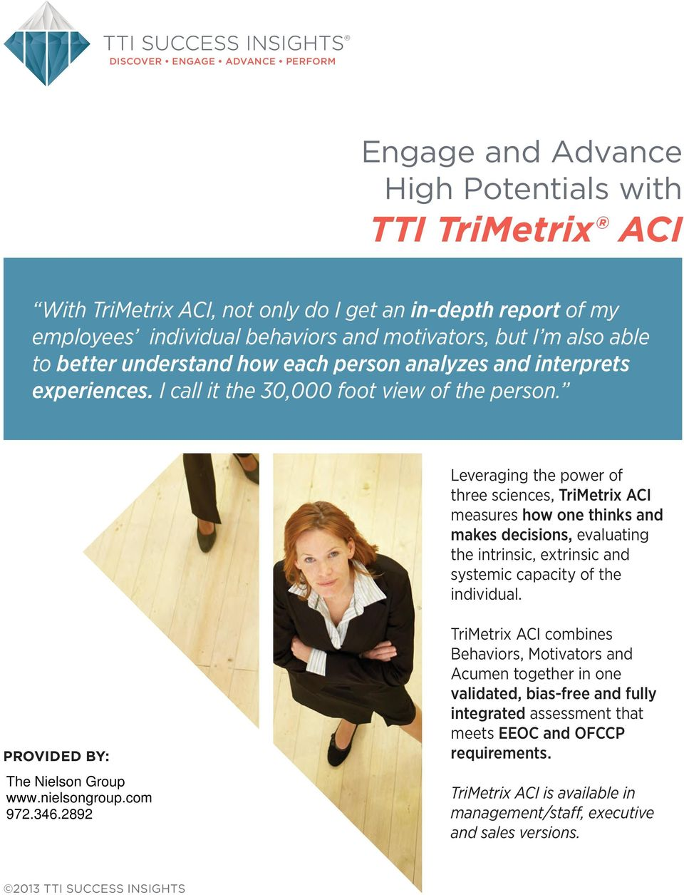 Leveraging the power of three sciences, TriMetrix ACI measures how one thinks and makes decisions, evaluating the intrinsic, extrinsic and systemic capacity of the individual.