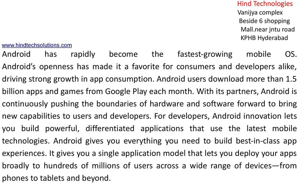 5 billion apps and games from Google Play each month.