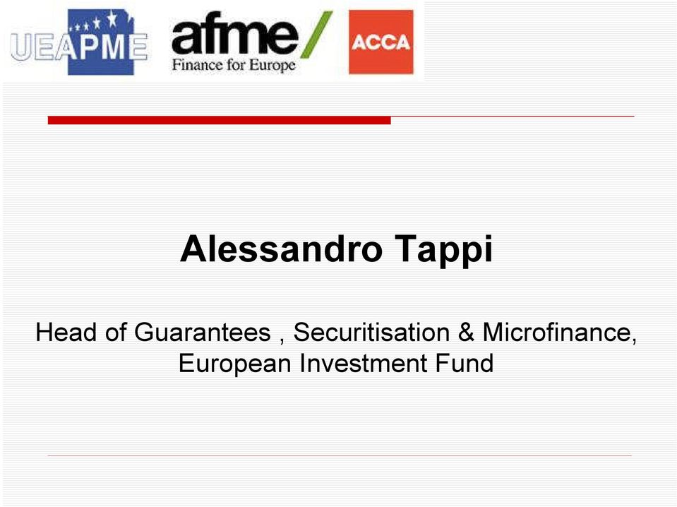 Securitisation &
