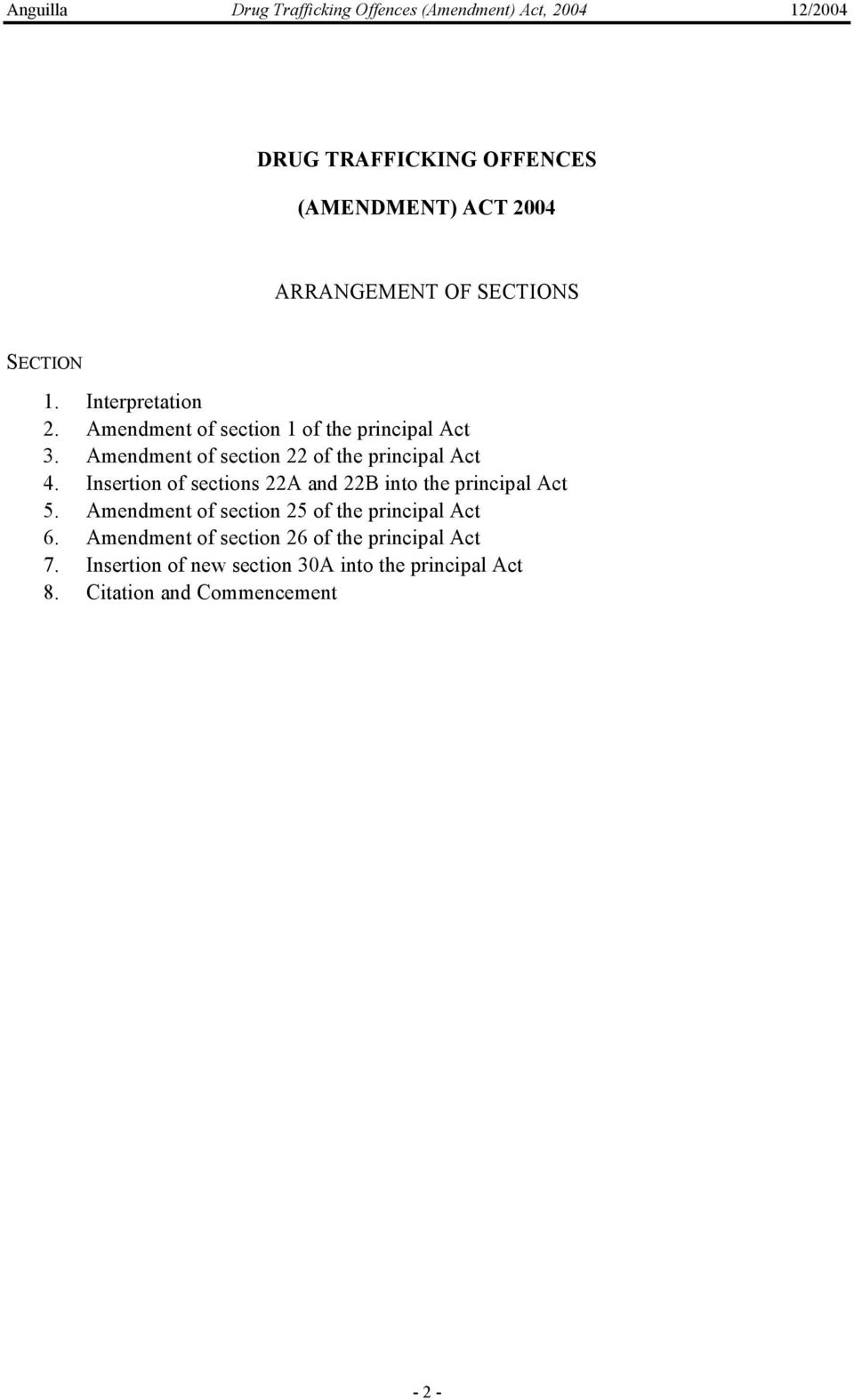 Insertion of sections 22A and 22B into the principal Act 5. Amendment of section 25 of the principal Act 6.