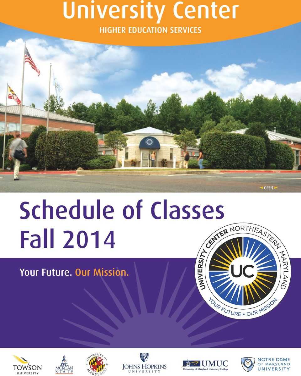 w Schedule of Classes Fall