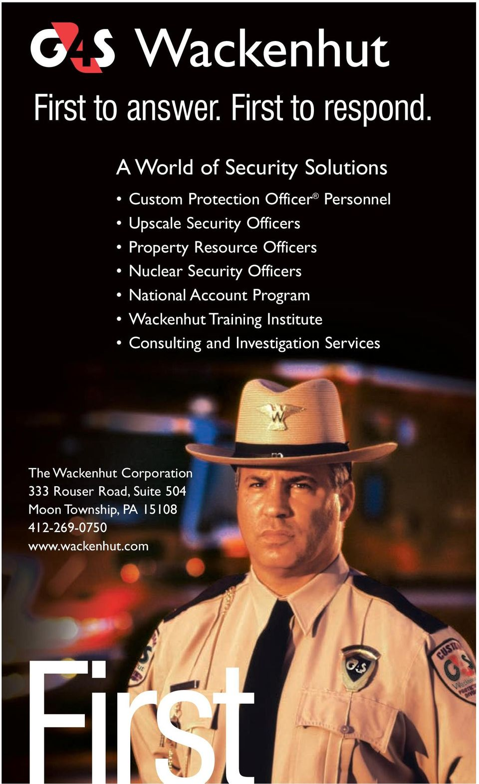 Property Resource Officers Nuclear Security Officers National Account Program Wackenhut Training