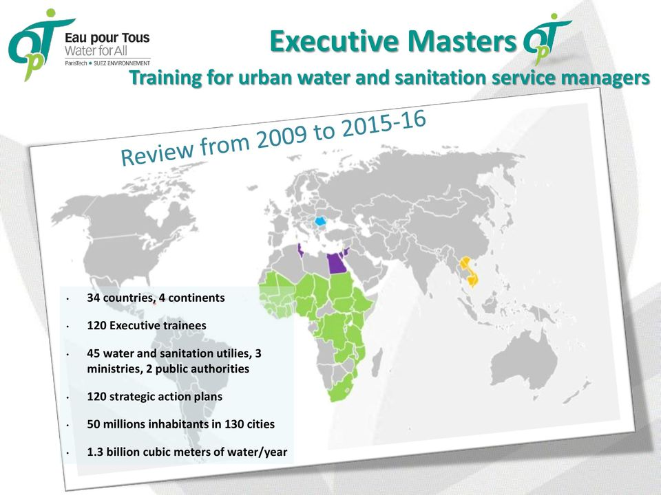 sanitation utilies, 3 ministries, 2 public authorities 120 strategic