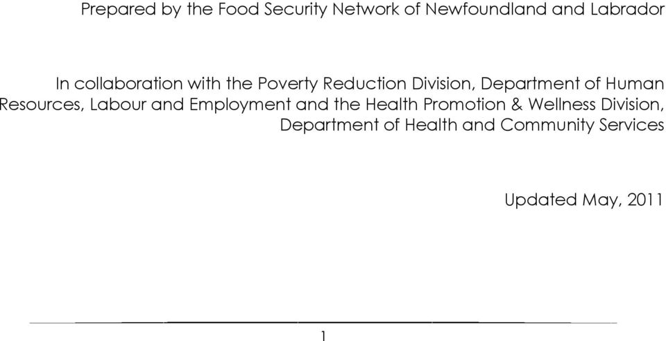 Resources, Labour and Employment and the Health Promotion & Wellness