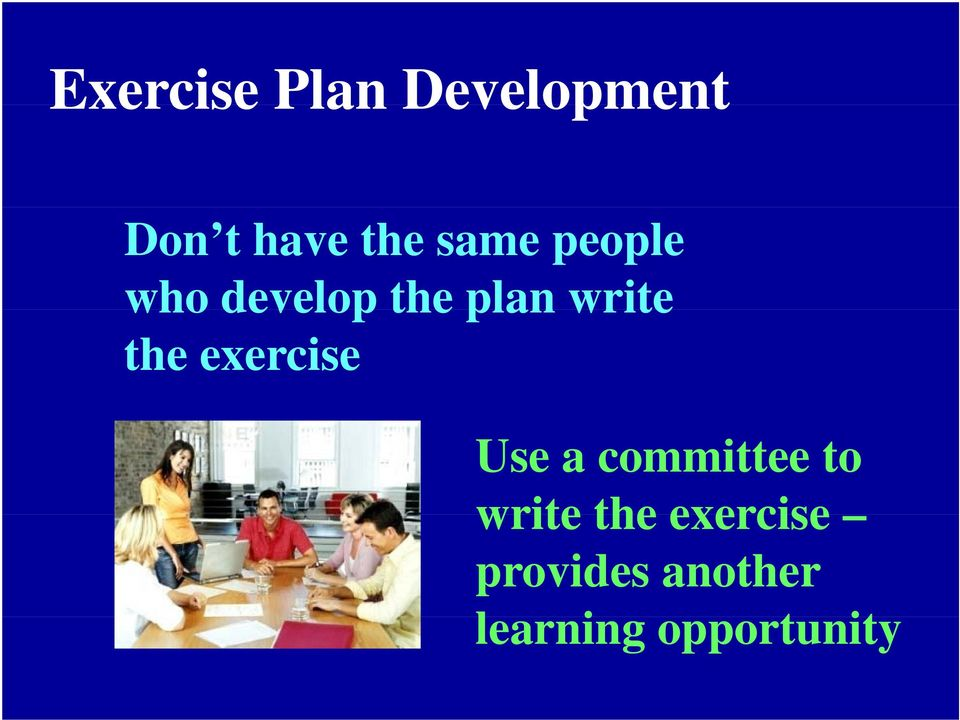 the exercise Use a committee to write the
