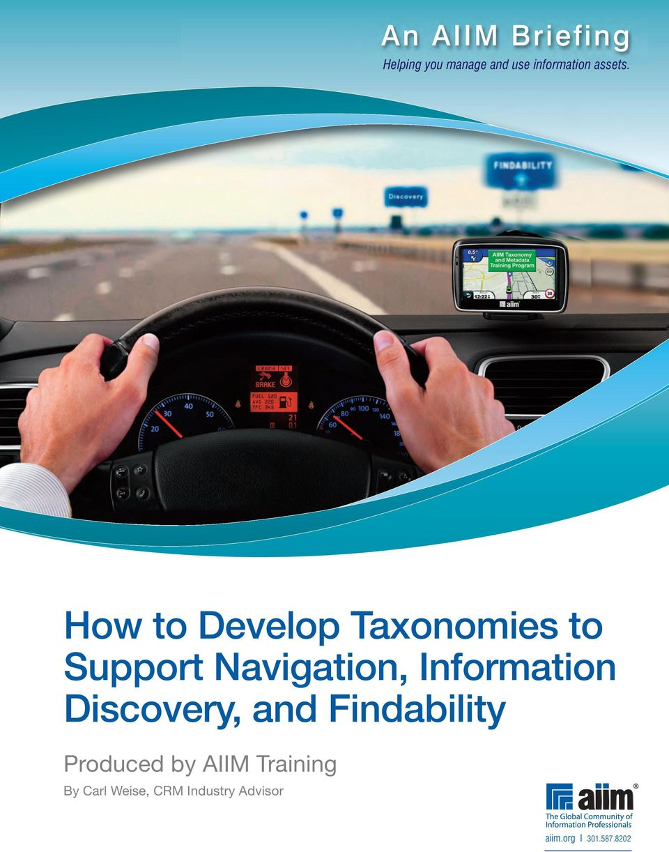 How to Develop Taxonomies to Support Navigation,
