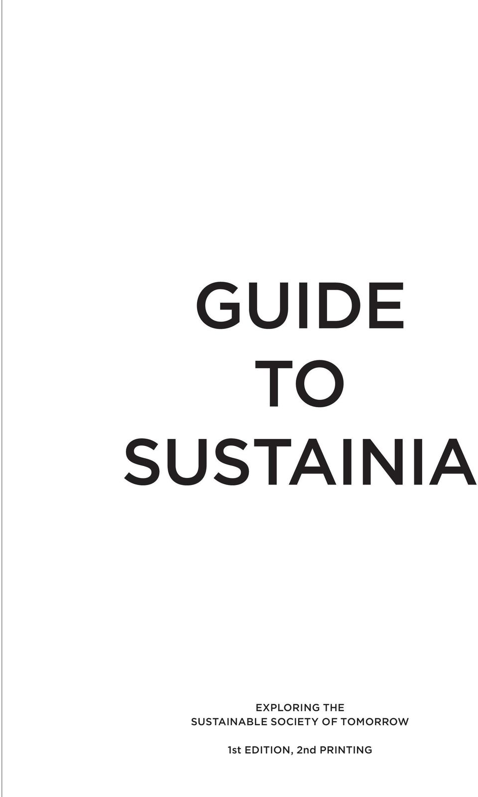 SUSTAINABLE SOCIETY OF