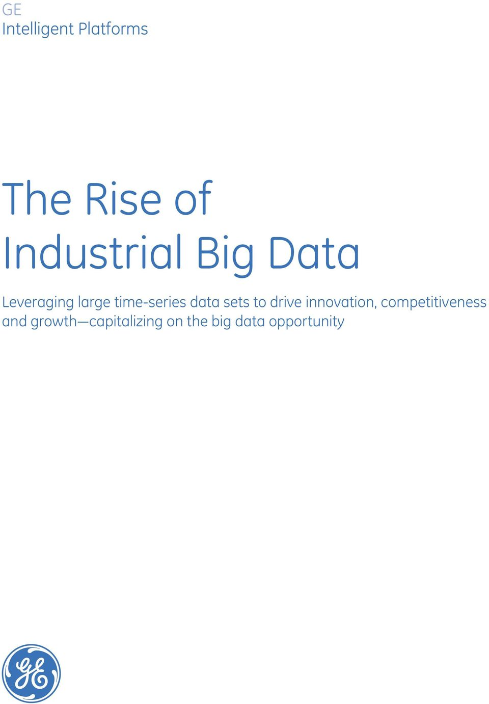 time-series data sets to drive innovation,