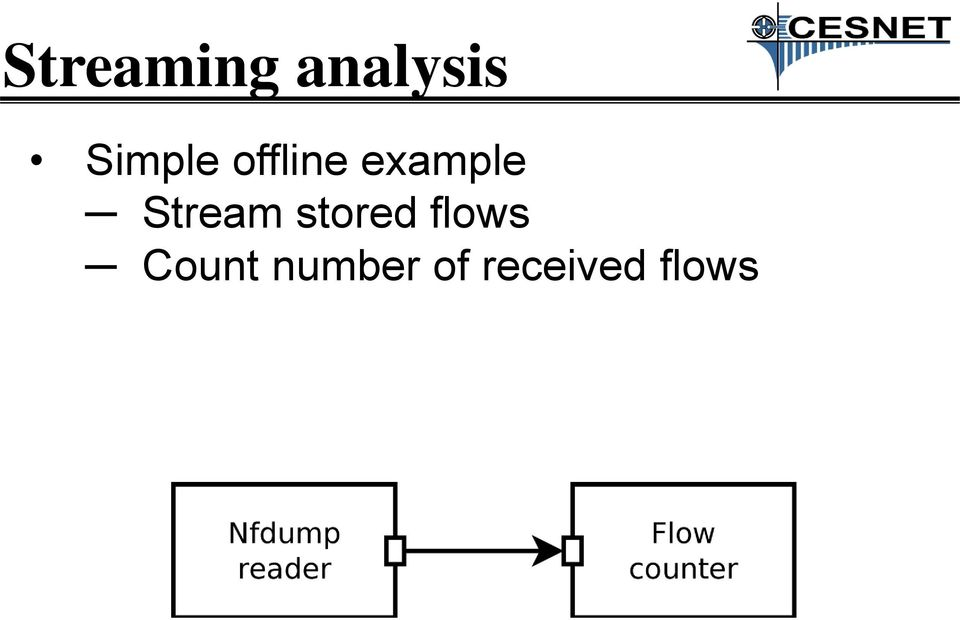 Stream stored flows