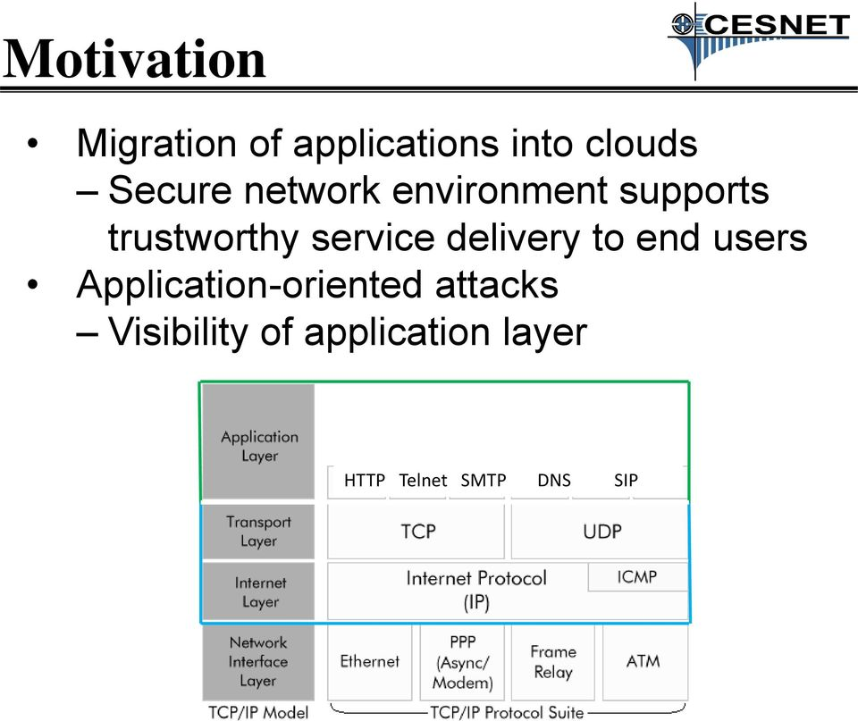 service delivery to end users Application-oriented