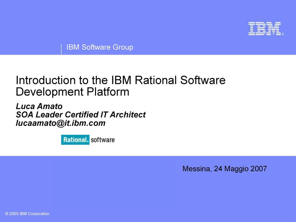 Leader Certified IT Architect lucaamato@it.