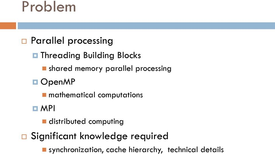 computations MPI distributed computing Significant